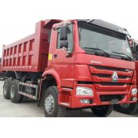 Quality 40t SINOTRUK HOWO Red heavy dump truck with 336hp euro ii emission standard wholesale