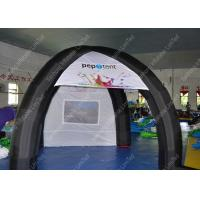 Blue PVC Large Inflatable Tent For Exhibition 65.6 x 164ft With Waterproof