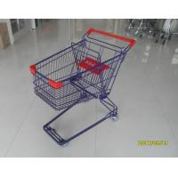 Durable 75 L Grocery Store Shopping Carts Colorful Treatment Coating