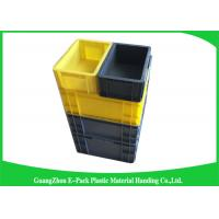 Quality Self Adhesive Label Holders Stackable Plastic Storage Containers , Euro Plastic Storage Boxes wholesale