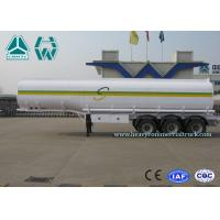 Quality Sinotruk Howo Carbon Steel Tri - axle crude oil trailers One Compartment Emergency Valve wholesale