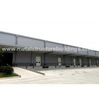 Quality Light Steel Structure Warehouse Depots With Aluminium Sandwich Panel Double Curved Roof wholesale