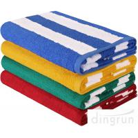 "Quality Stripe Cotton Bath Towels Plain Woven 30 "" X 60 "" High Absorbency For Swimming wholesale"