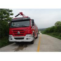 Quality Dimension 10970×2480×3900mm Fire Pumper Truck , Pump Flow 100L/S Fire Fighting Vehicles wholesale