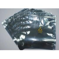 Resealable Anti Static Shielding Bags , Customized ESD Shielding Bag With Zip Lock