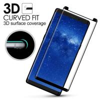 Quality Samsung Note 8 Anti Smudge Privacy Glass Screen Protector 3D Curved Edge wholesale