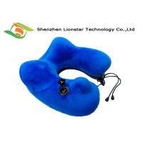 China U Shape Inflatable Travel Neck Pillow Lightweight With Ergonomically designed on sale