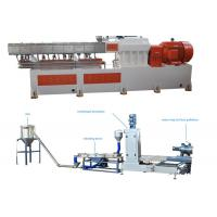 Quality PP Caco3 Double Screw Extruder Granulation Machine Water Ring Cutting System wholesale