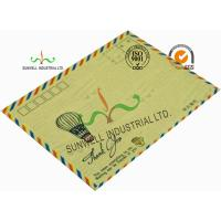 Quality Standard Size Kraft Paper Custom Printed Envelopes With UPC Barcode Printing Edge wholesale