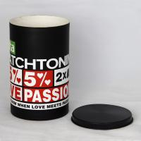 Fashional Black Cylindrical Paper Can Packaging for Underwear and T-shirt