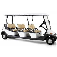 Quality White Four Wheels 6 Person Golf Cart , Road Legal Golf Buggy With Long Roof wholesale