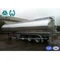 Quality Stainless Steel Fuel Tank Semi Trailer 3 Axles 60000 Liters With Mechanical Suspension wholesale