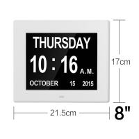 Quality 8Inch IPS 1024x768 Digita Calendar Day Clock Extra Large Impaired Vision wholesale