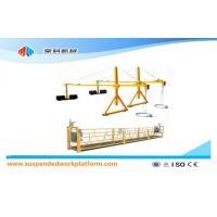 Cheap Customized Movable Safety Window Cleaning Platform , ZLP500 1.5KW 6.3KN Swing Stage for sale