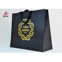 Quality Cotton Ribbon Personalized Wine Bags Paper Material , Custom Business Shopping Bags wholesale