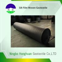 Quality Grab Tensile Geotextile Fabric For Roads , Black 136g Woven Polyethylene Fabric wholesale