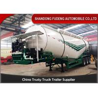 Buy cheap 3 Axles Bulk Cement Tanker 30-75 CBM  Mechanical / Air / Bogie Suspension from wholesalers