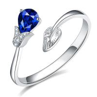 Buy cheap Right Hand Natural Sapphire Diamond Ring Natural Gemstone For Engagement from wholesalers