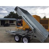 Cheap Electric Pump Galvanised Hydraulic Tipper 8 X 5 Tandem Trailer 2000kg for sale