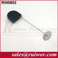 Quality Balck / White Bazaar Display Security Tether With Adhesive ABS Plate / 2.8x2.8x0.8Cm Box wholesale