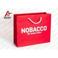 Quality Bright Red Color Personalised Paper Shopping Bags For Business Eco - Friendly wholesale