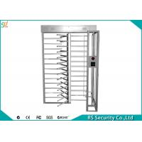 High Security Full Height Turnstiles  Indoor Outdoor Electric  For Hotel
