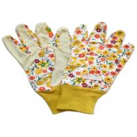 Yellow Twill Working Hands Gloves Breathable Protecting Against Abrasion