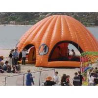 Orange Inflatable Party Tent For Leisure , House Shade Inflatable Wedding Tent