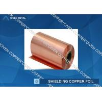 Quality 35um Single Shiny FCCL / PCB Electrolytic Copper Shielding Foil For Pcb Printed Circuit Board wholesale