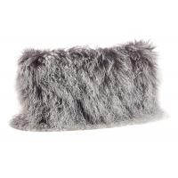 Quality Tibetan Sheepskin Sofa Pillow Covers 10-15cm Long Curly Hair For Bed / Sofa / Chair wholesale