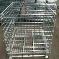 Quality Heavy Duty 50mm Galvanized Welded Metal Storage Cages for Transportation wholesale