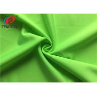 Quality Breathable Dry Fit Strecth Polyester Elastane Fabric For Sportswear , Green Color wholesale