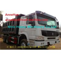 Quality EuroII 30T 6x4 Cat Dump Truck With Middle Lifting And Q235 Steel Material wholesale