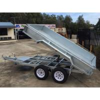 Quality 2000kg 10 X 5 Tandem Trailer / Galvanised Tipper Trailer With Checker Plate Rolled Body wholesale