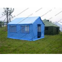 Quality Soft PVC Windows Outdoor Event Tent , Blue Roof Cover Refugee Tent For Disaster Relief wholesale