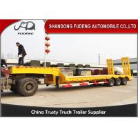 Heavy duty 3 axles spring ramp low loader truck trailer for sale