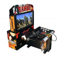 Quality Rambo Electronic Coin Operated Indoor Arcade Video Simulator Gun Shoot Game Machine with 2 players wholesale