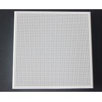 Quality Weather Resistant Acoustical Ceiling Tiles Aluminum / Galvanized Steel White Coated wholesale