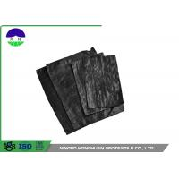 Quality Black Separation Woven Geotextile Fabric Pp Material 205gsm Unit Mass wholesale