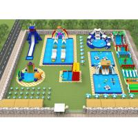 Buy cheap Adults Giant Water Toys / Outdoor Inflatable Water Park With Slide Hand Painting from wholesalers