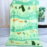 Custom Forest Jacquard Woven Velvet Beach Towels Canada Heavy Weight 550gsm