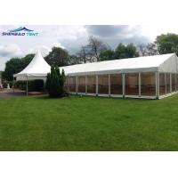 Buy cheap 500 Guests Waterproof White PVC Party Tent For Concerts / Warehouse from wholesalers