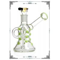 Quality PHOENIX STAR 5MM Glass Water Bubbler 6.2 Inches With Dots Art On Glass wholesale