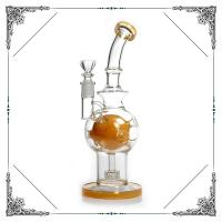 Cheap 10 Inches Color Fab Egg Matrix Perc Smoking Hand Blown Glass Bowl for sale