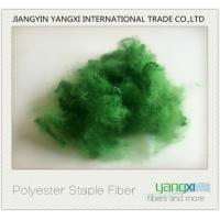 Quality Verde Pino Dyed Recycled Polyester Fiber Good Color Fastness Easy To Spinning wholesale