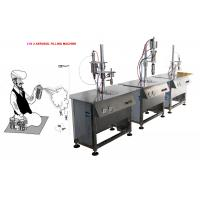 Aerosol Filling System For Police Spray Aerosol Cans 5000-8000cans/Shift