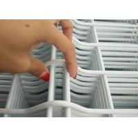 Quality White Vinyl Coated Welded Wire Fencing / Galvanised Welded Wire Mesh Panels wholesale