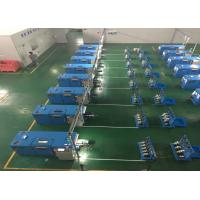 Sky Blue Copper Wire Twisting Machine , Touch Screen Operation