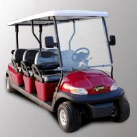 Quality Park 6 Seater Golf Cart Electric Sightseeing Car With 3.7kw KDS Motor wholesale
