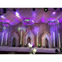 Buy cheap Purple Heavy Duty PVC Event Tent Wedding Tent with Inside Decorations With Self - Cleaning Ability from wholesalers